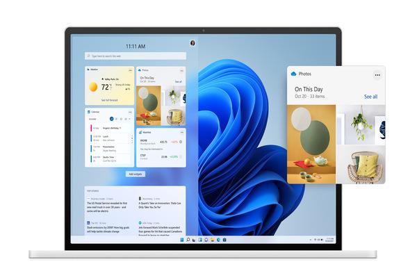 imagen de una laptop con windows 11