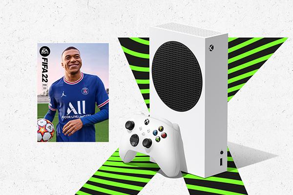 Immagine di Xbox Series S con FIFA 22